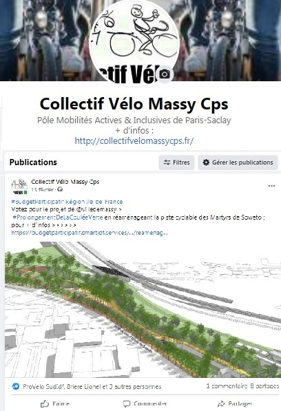 Page Facebook du Collectif Vélo Massy-CPS